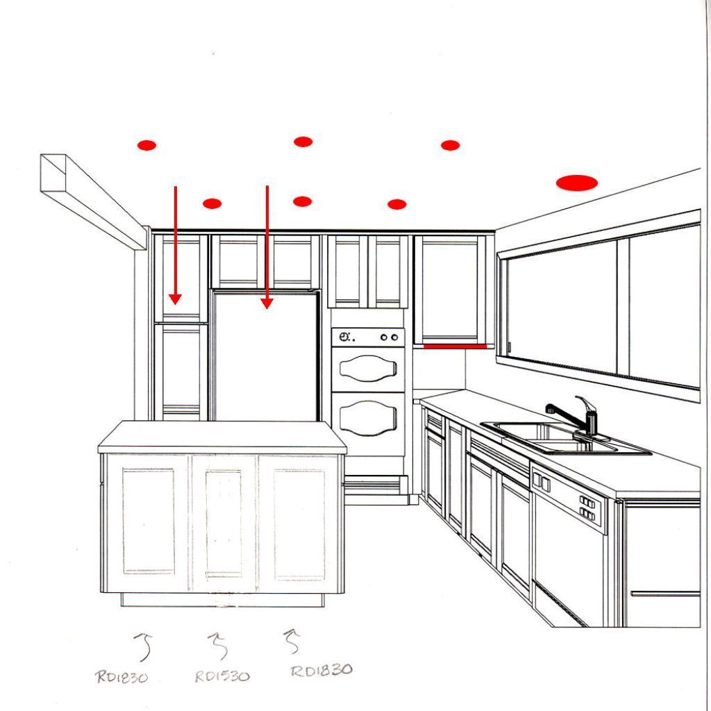 recessed lighting kitchen layout