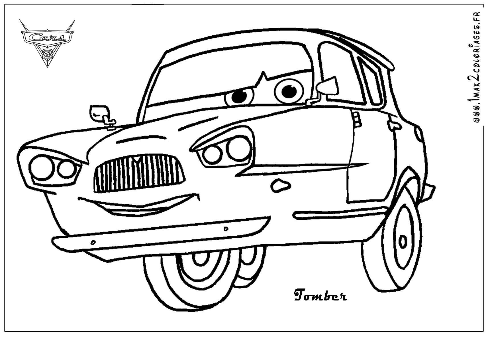 Co co coloring pics of cars