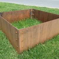 Small Corten Steel Planter Box with rusty patina ...