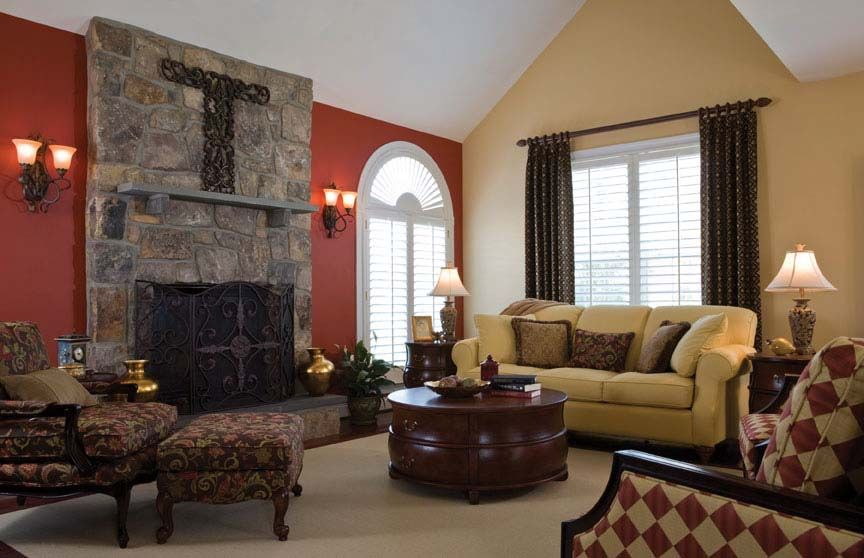 Wall Colors We Love for the Living Room Golden tan, Wall colors - paint schemes for living rooms