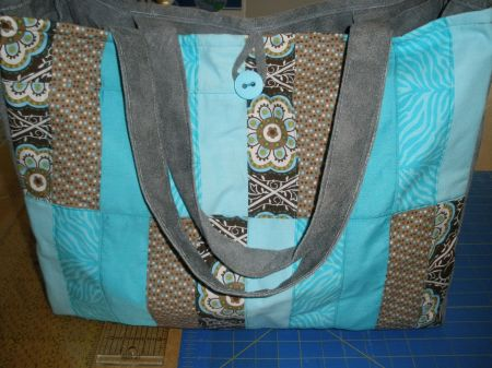 Quilted Tote Bag With Pockets