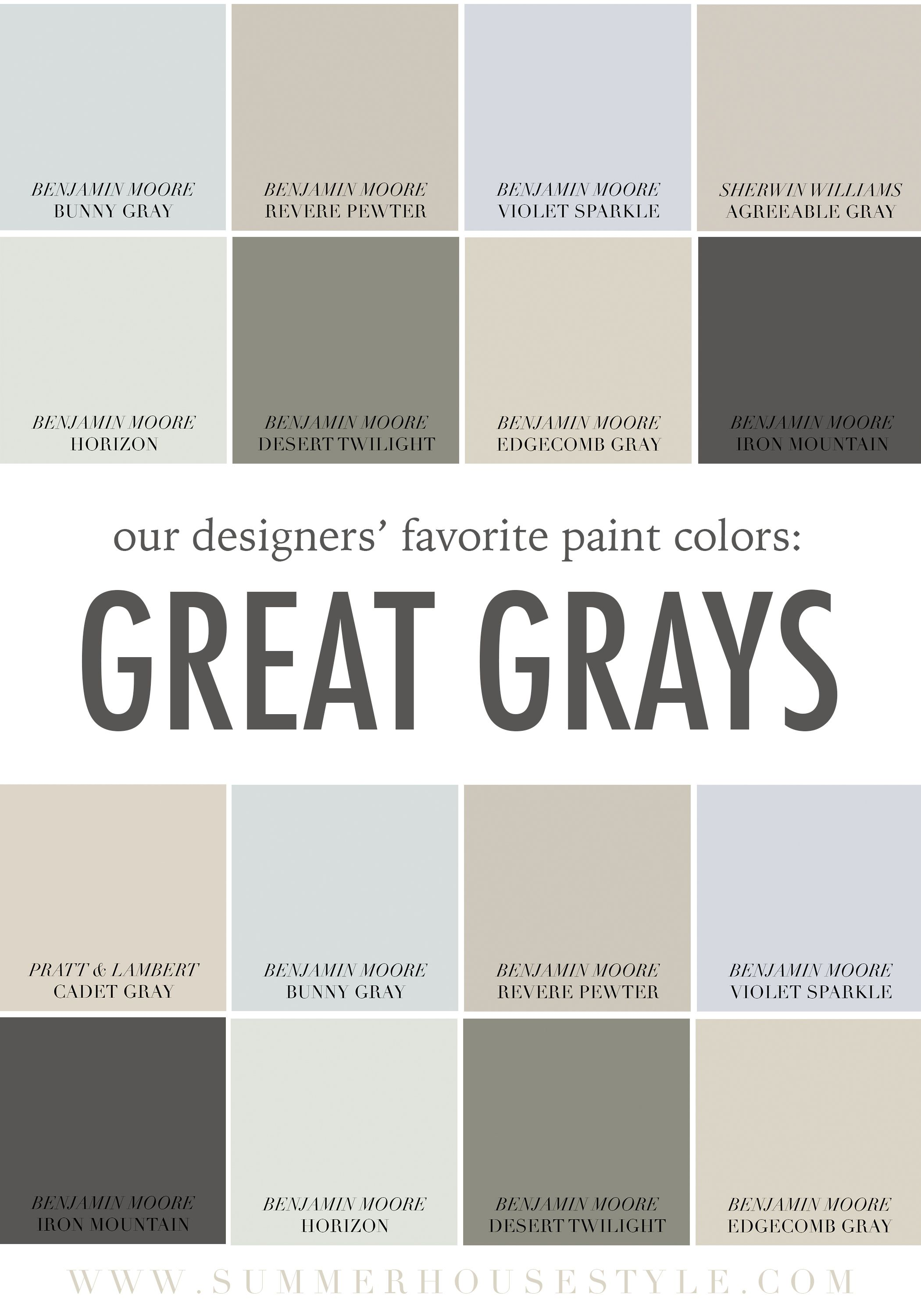 Colors That Complement Gray Walls The Best Paint Colors With Gray Undertones Www