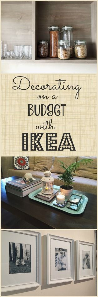 Decorating on a Budget with IKEA Ikea hack, Decorating and - home decor on a budget