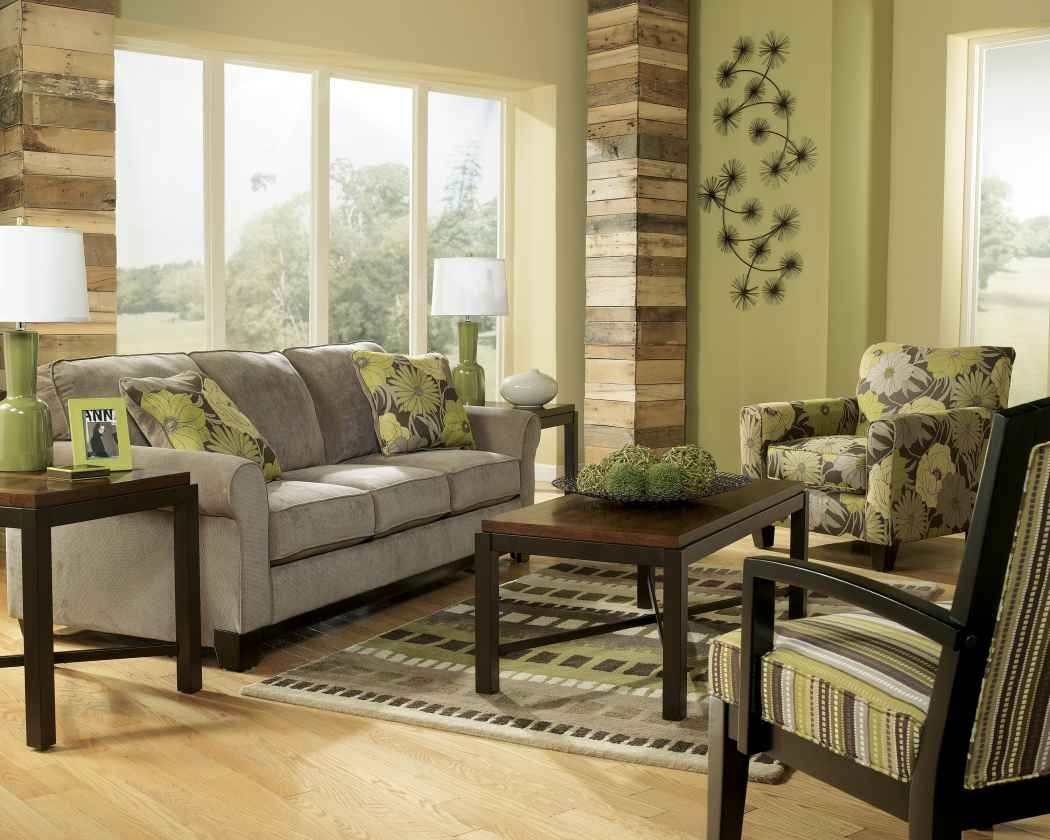 Earth Tone Curtains Earth Tone Living Room With Green Wall Paint And Gray Sofa