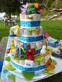 "luau baby shower ideas | front of ""cake"" 