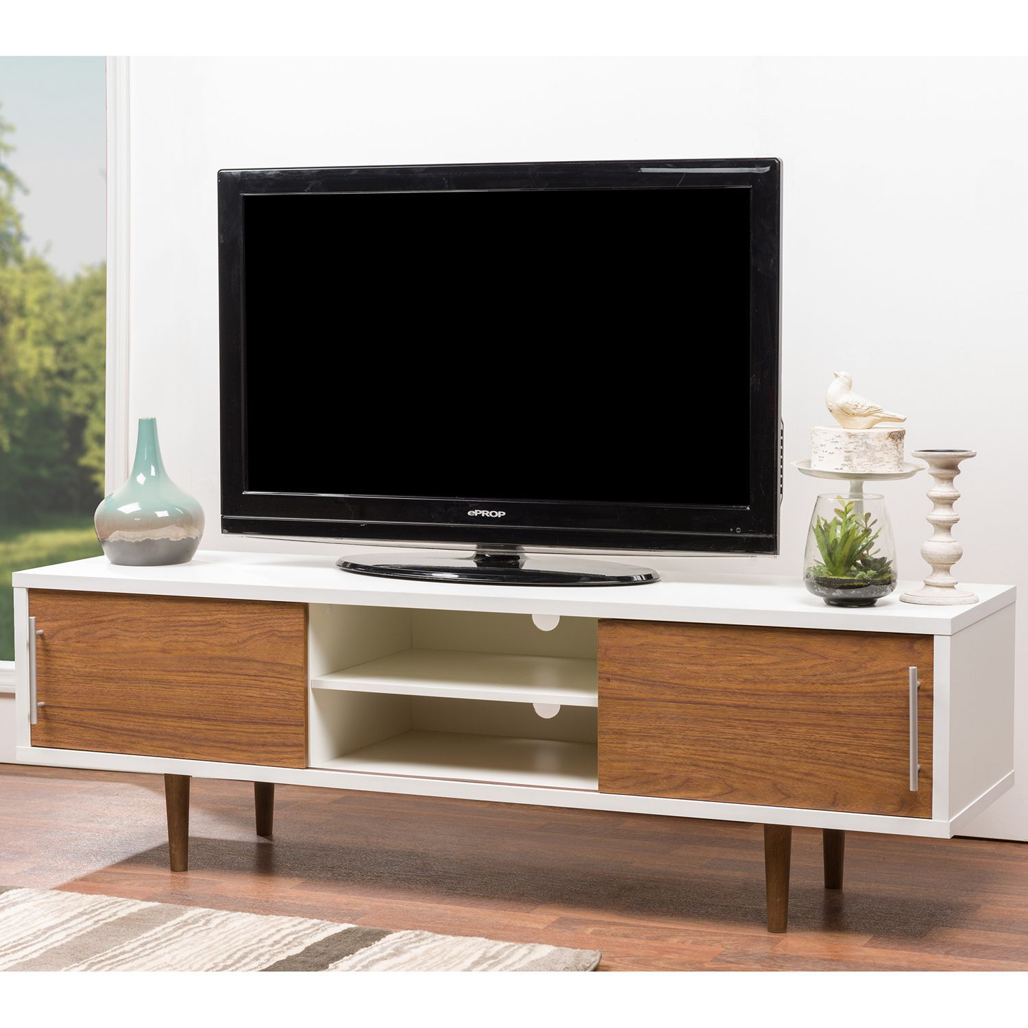 Contemporary Tv Stands Gemini Wood Contemporary Tv Stand Overstock Shopping