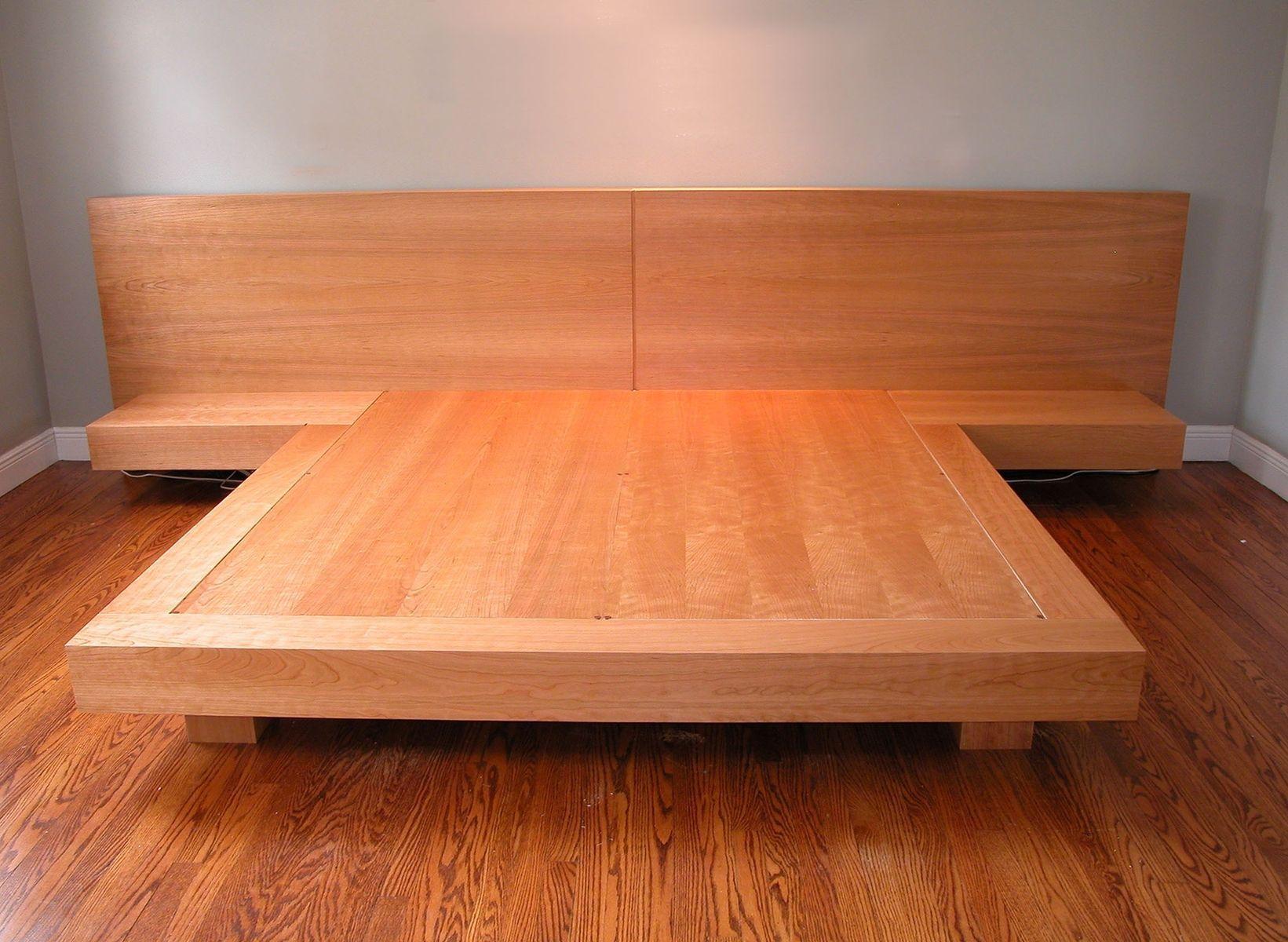 Custom made king size platform bed