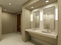commercial bathrooms design | Commercial Bathroom 3D Set ...