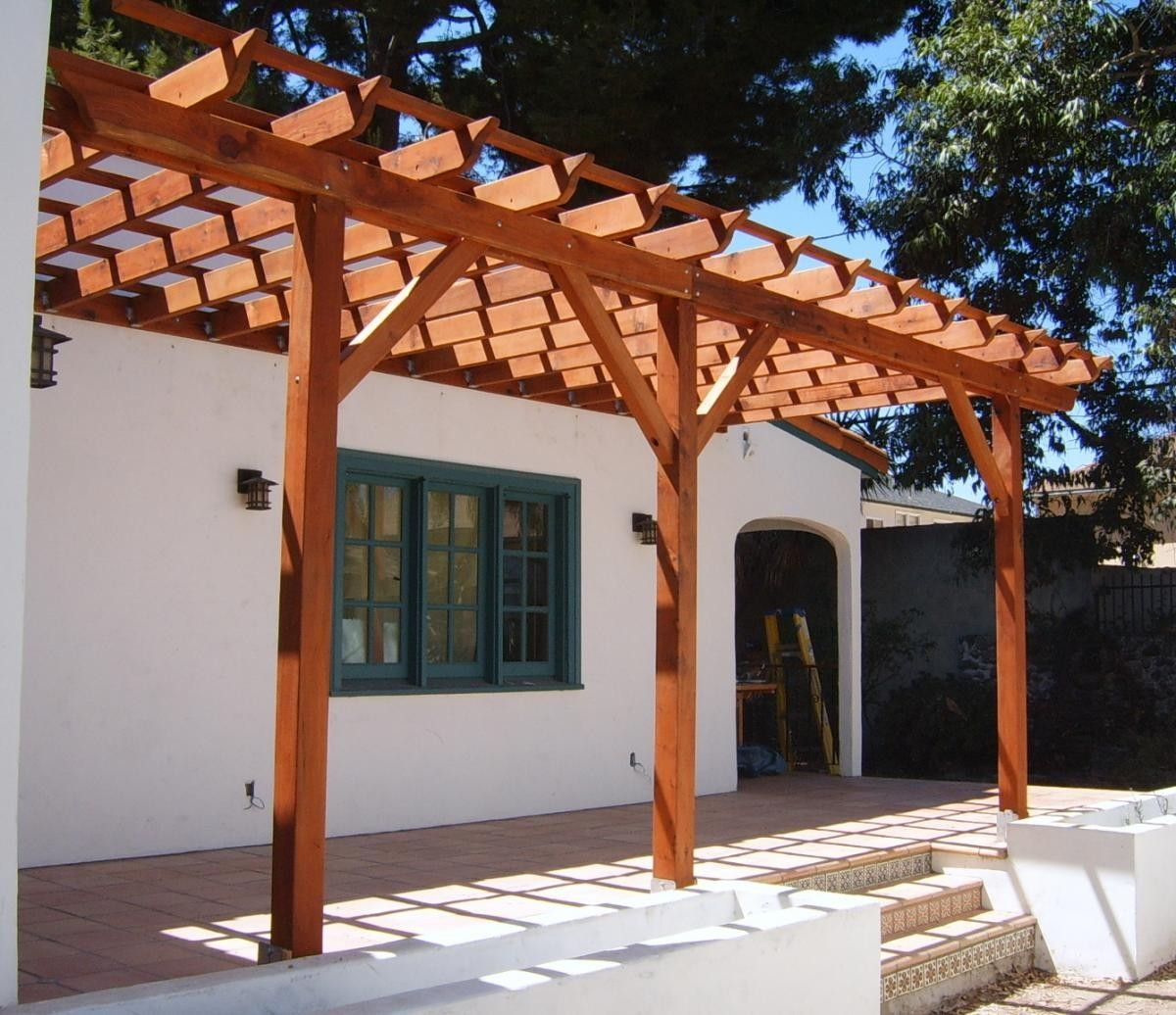 Simple Pergola Attached To House Pergola Attached To House Pergola Board Pinterest