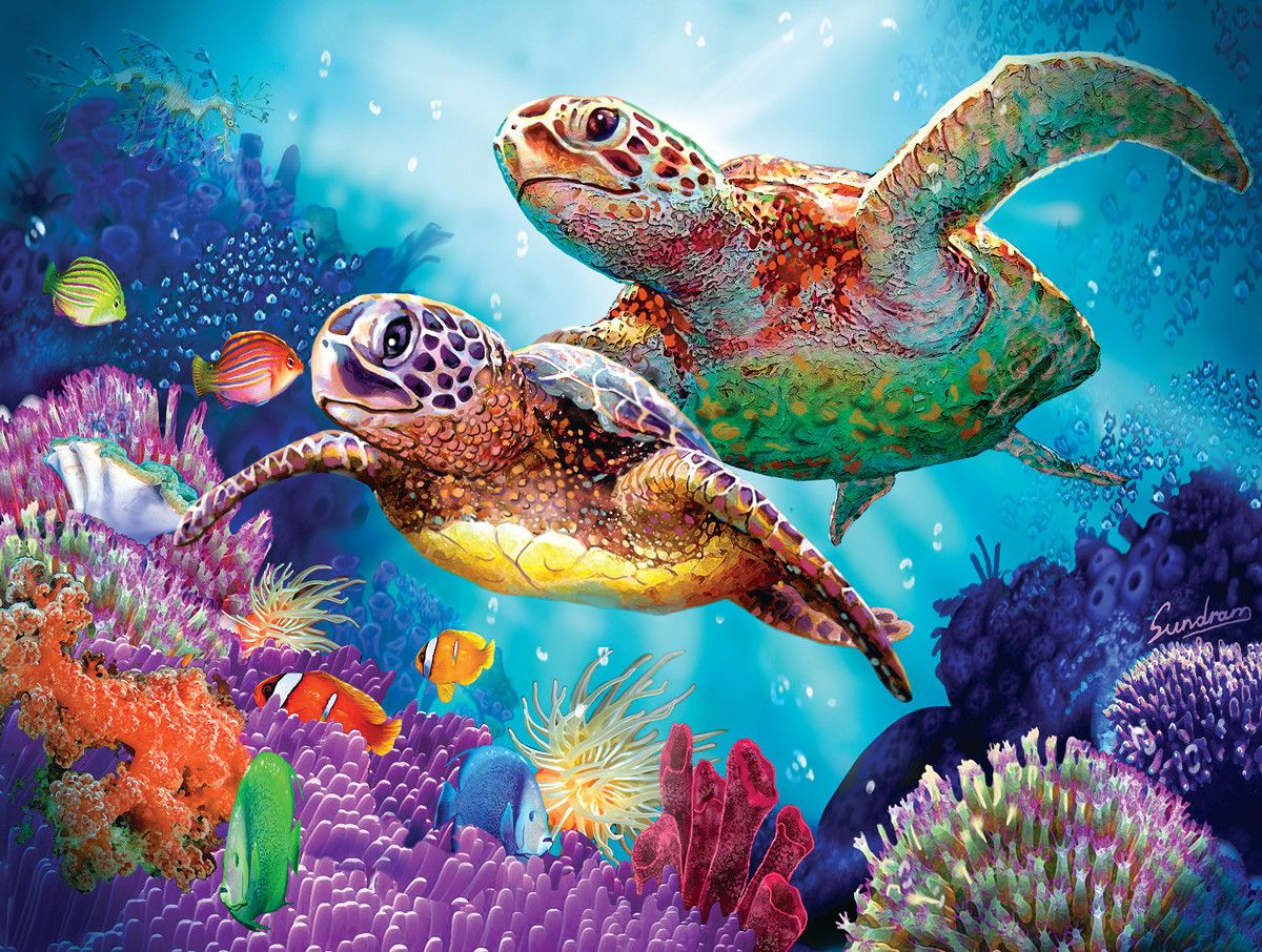 Living 3d Dolphins Animated Wallpaper Windows 7 Turtle Guardian Fish Jigsaw Puzzle Art N More