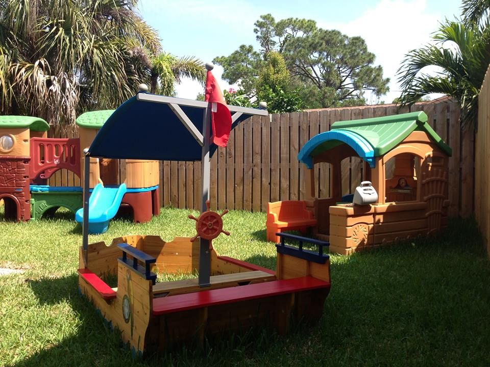 Playground and outdoor ideas for family home daycare Childcare - home playground ideas