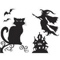 halloween silhouettes | ...  Halloween Decorations ...
