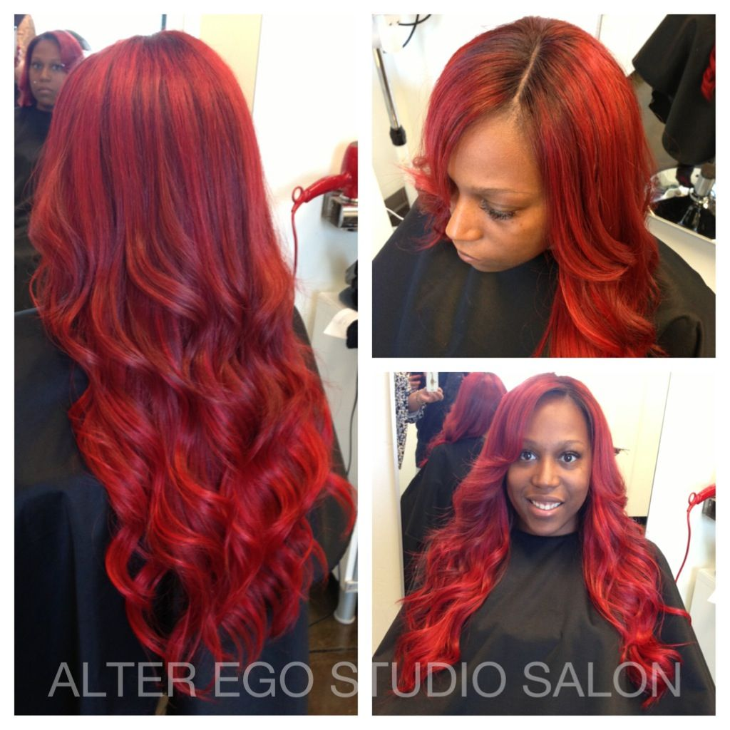 Alter Ego Hair Salon Sew In Weave With Lace Closure Custom Color Stylist Tim