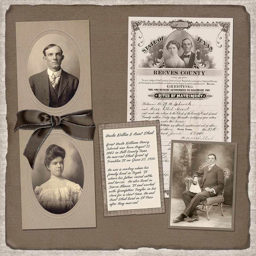 Scrapbook ideas genealogy ideas