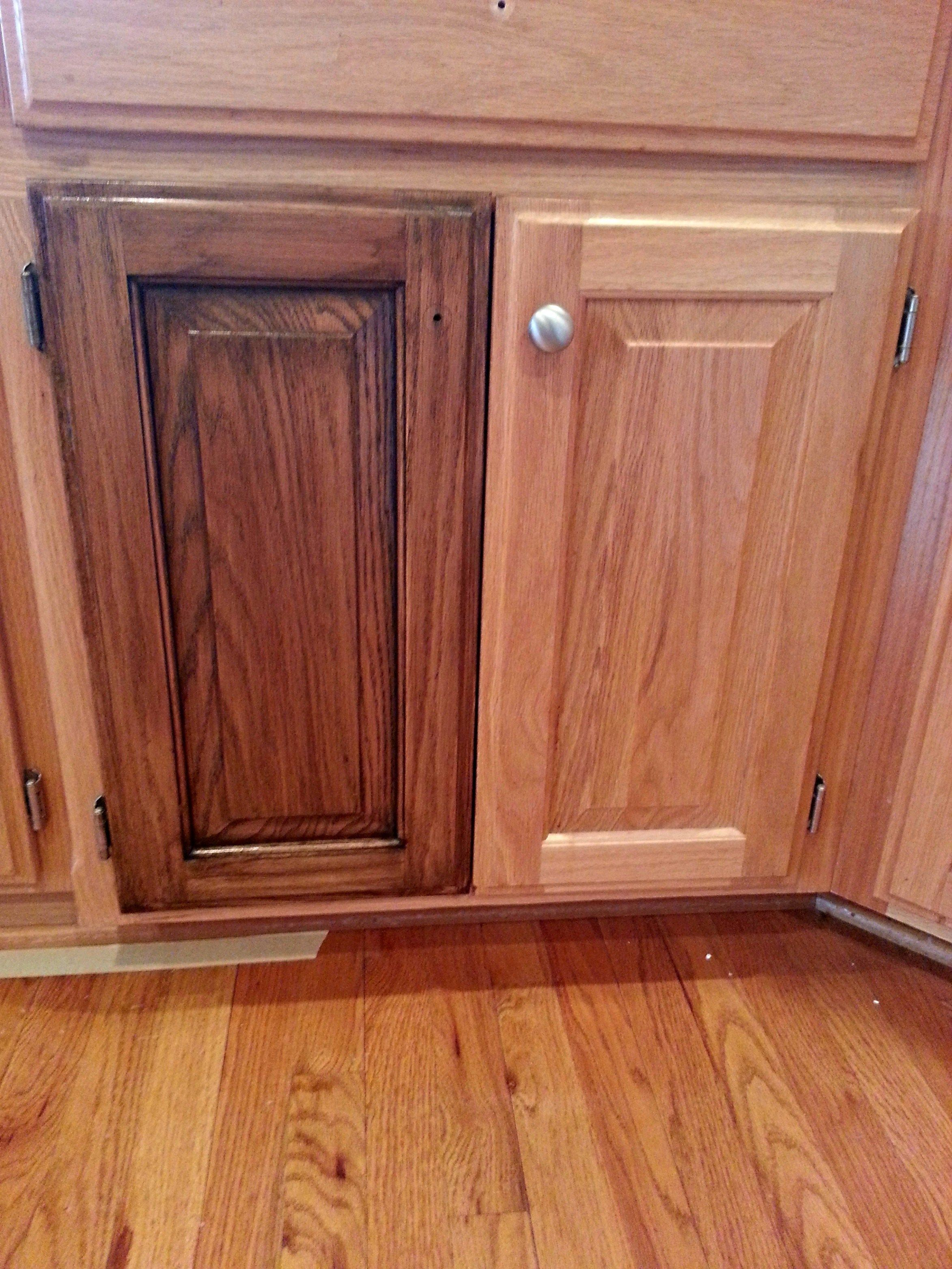 Stains For Kitchen Cabinets Cabinet Restaining Dark Walnut Stain Walnut Stain And