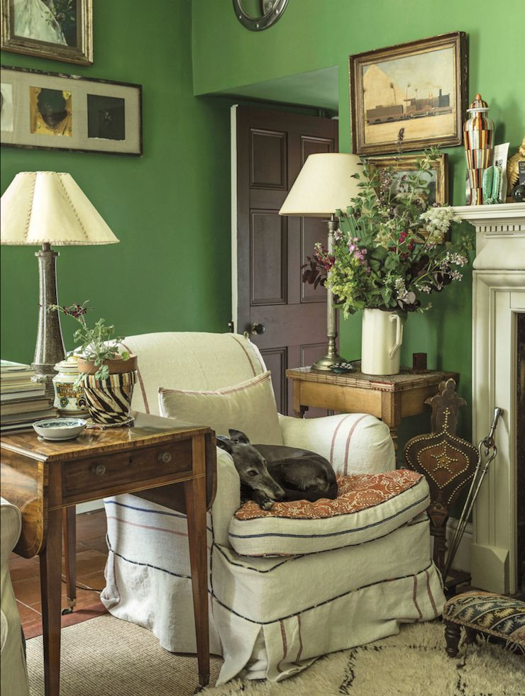 Interiors English country decor, English countryside and English - green living rooms