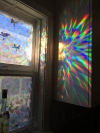 Amazon.com - Decorative Window Film Holographic Prismatic ...