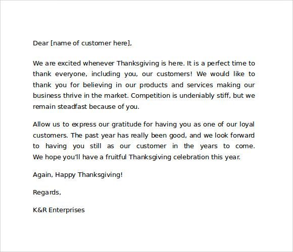 Sample Thank you Letter to customers for business Business - sample thank you for your business letter