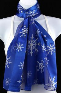 New Snowflakes Womens Christmas Holiday Gift Scarf Scarfs ...