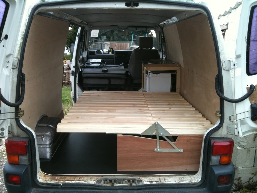 Ausziehbett T4 Self Made Wooden Seat Beds Pics Please Page 2 Vw T4
