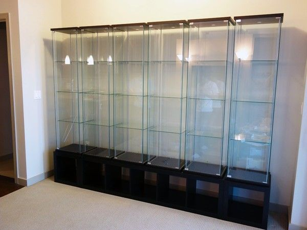 Detolf Glass Door Cabinet Black Brown Display Cabinets From Ikea!!! 6 Detolfs With This Setup