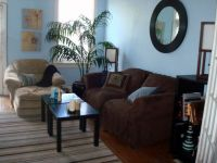 Blue Brown and Tan Living Room, This is the living room