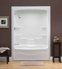 One piece shower insert. Liberty 60 Inch 1-piece Acrylic ...