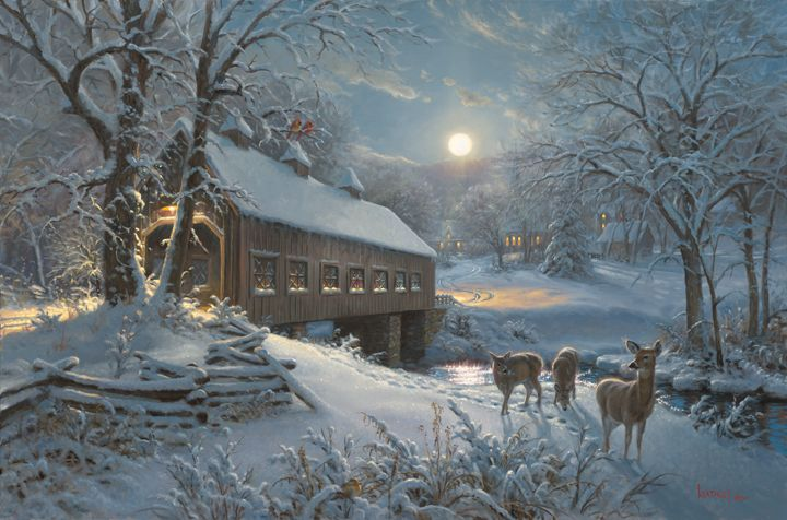 Falling Snow Live Wallpaper For Iphone Moonlit Passage By Mark Keathley Http Www