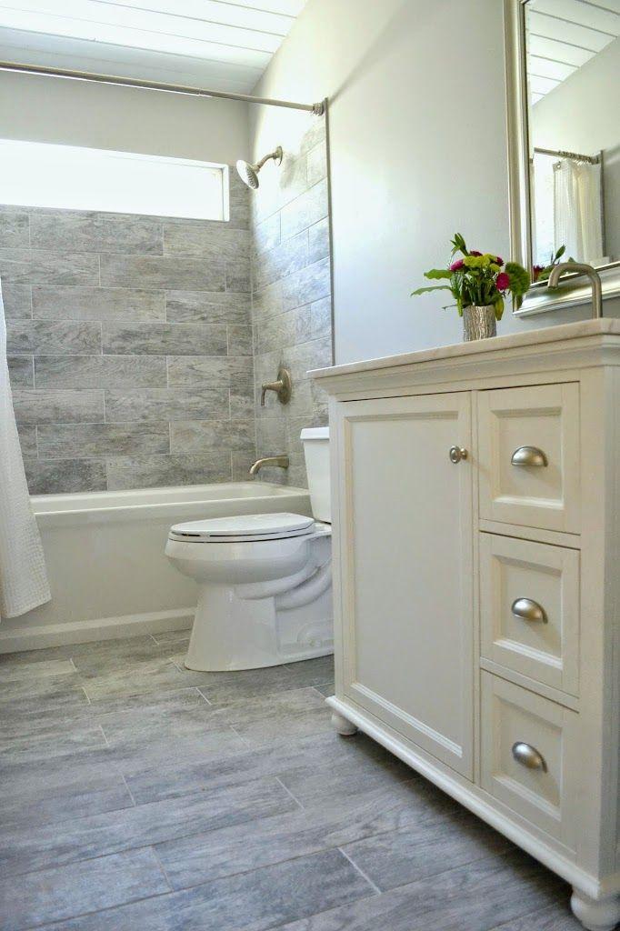 How I Renovated Our Bathroom On A Budget Behr marquee paint - bathroom floor tiles ideas