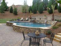 Raised pool with waterfalls | Pool ideas | Pinterest ...