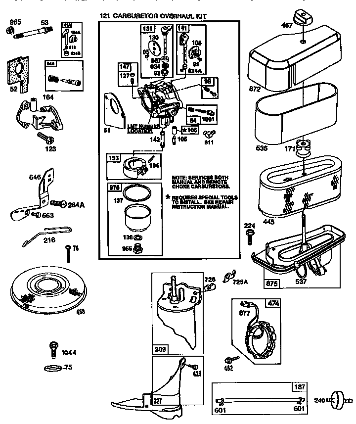 briggs and stratton lawn mower engine diagram for pinterest