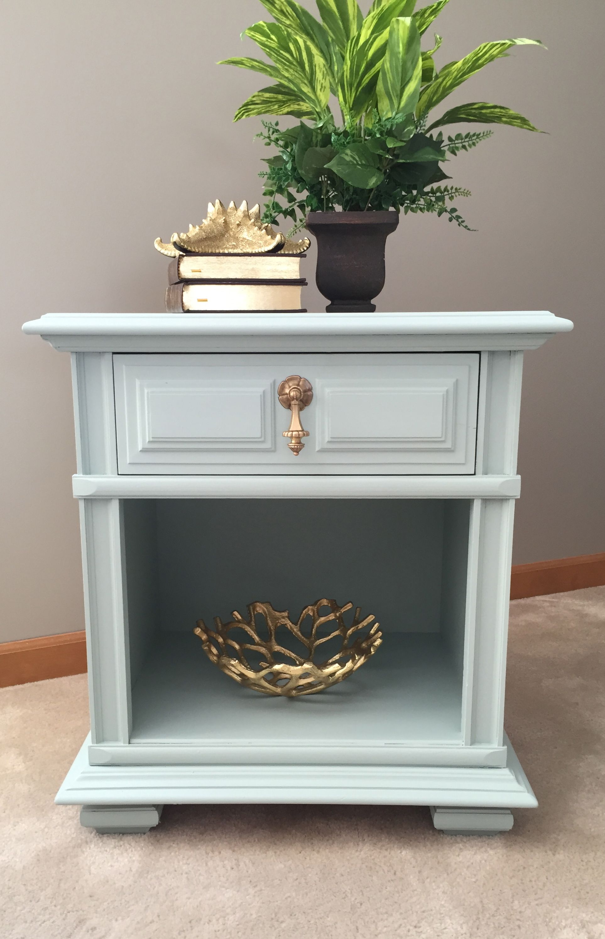 Painting Side Table Ideas Vintage Thomasville Nightstand Painted In Fusion Paint