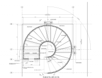 Circular Stair 101 Warren Street, New York, NY. Plan ...