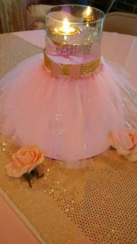 Pink and gold little princess baby shower...DIY tutu glass ...
