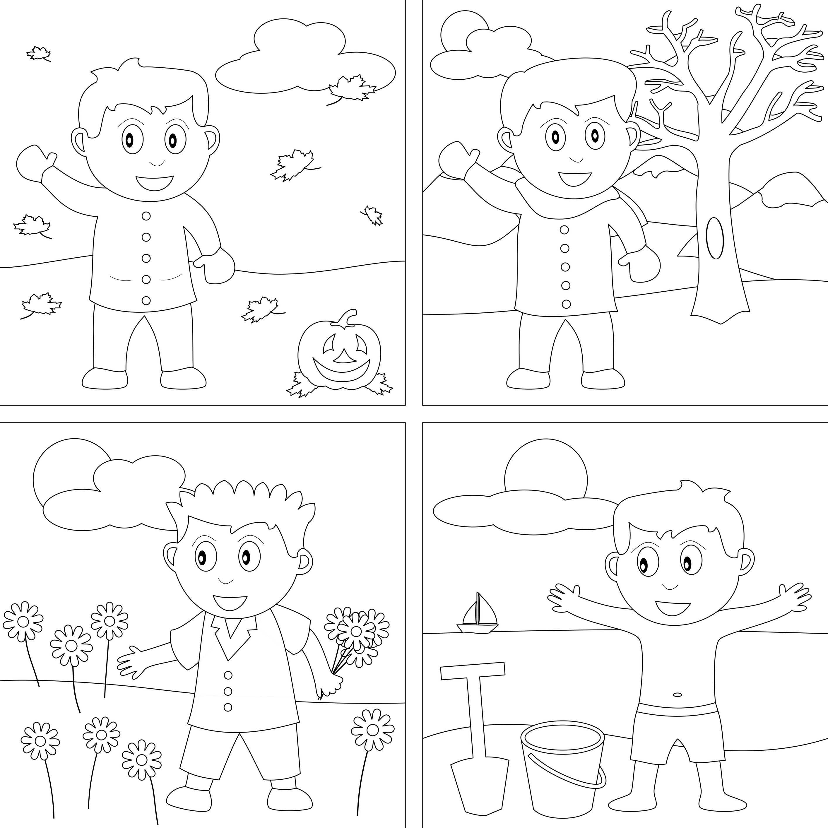 Coloring pages 4 seasons - Coloring Pages 4 Seasons 30