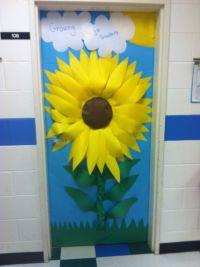Classroom door - sunflower | Pre-school | Pinterest