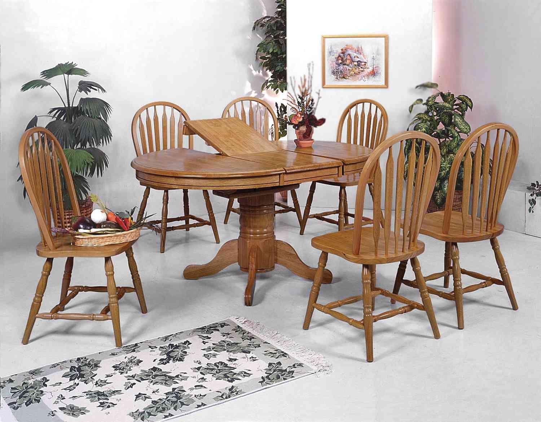 Room sharp dark oak dining room set