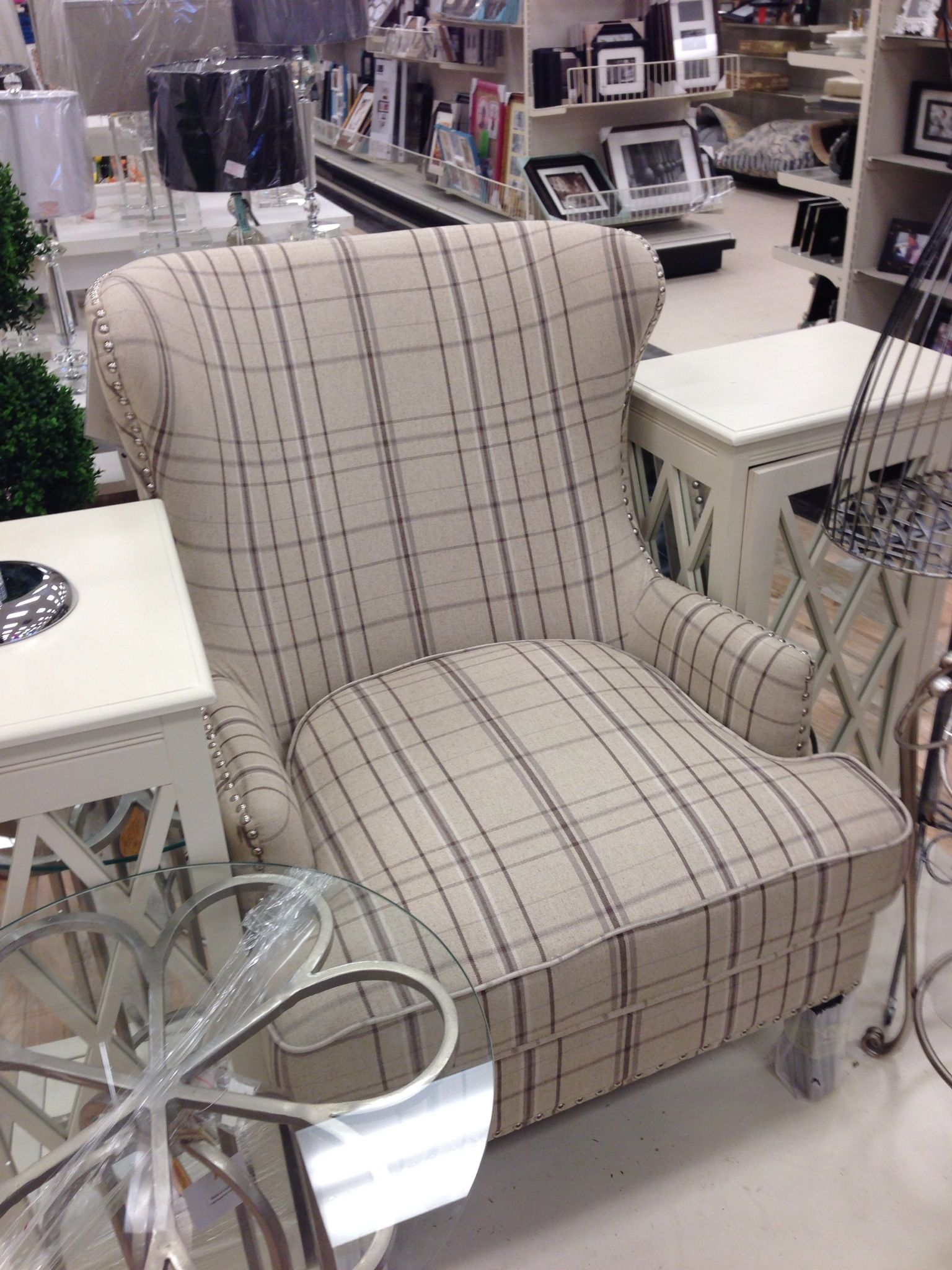 Homesense Accent Chairs Homesense Plaid Chair Colour Palette Pinterest