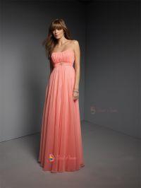 Stunning Coral Bridesmaid Dresses : Coral Chiffon ...