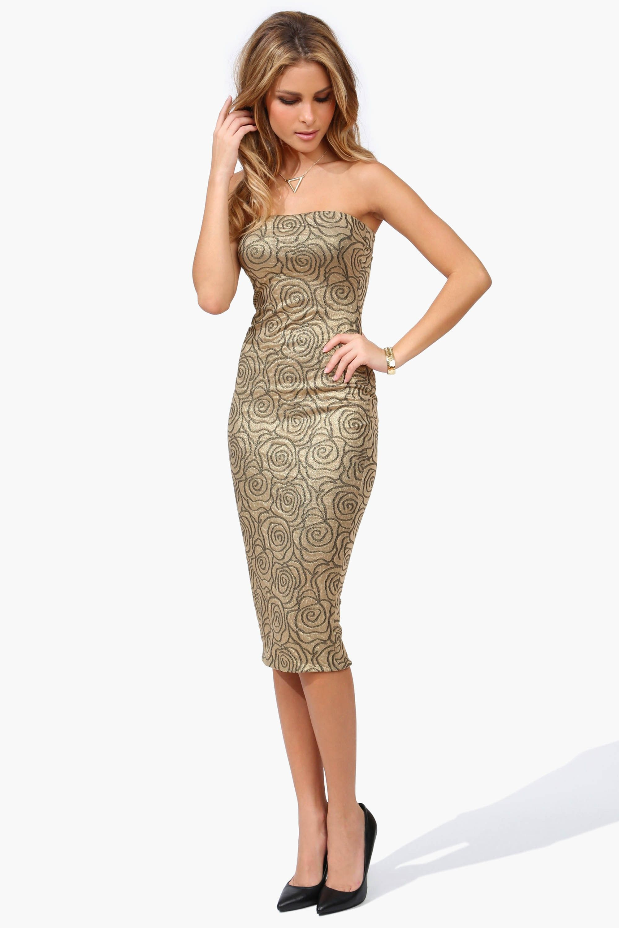 Dressing Point P Disco Night Pencil Dress In Gold A Sexy And 70 39s Inspired