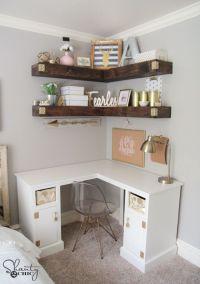 DIY Corner Desk | Desks, Tutorials and Free