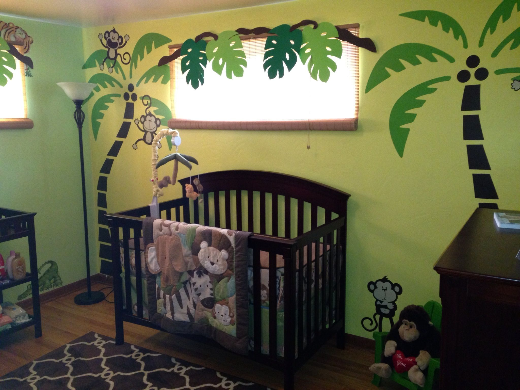 Rainforest Bedroom Ideas Jungle Nursery Babyyy Love Pinterest An Eye
