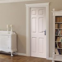 Corniche Primed 6 Panel Door with Wood Grain Effect | Wood ...