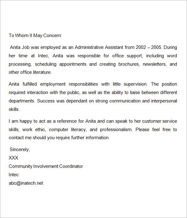 Recommendation-Letter-for-Nurses reference letter Pinterest - nursing recommendation letter