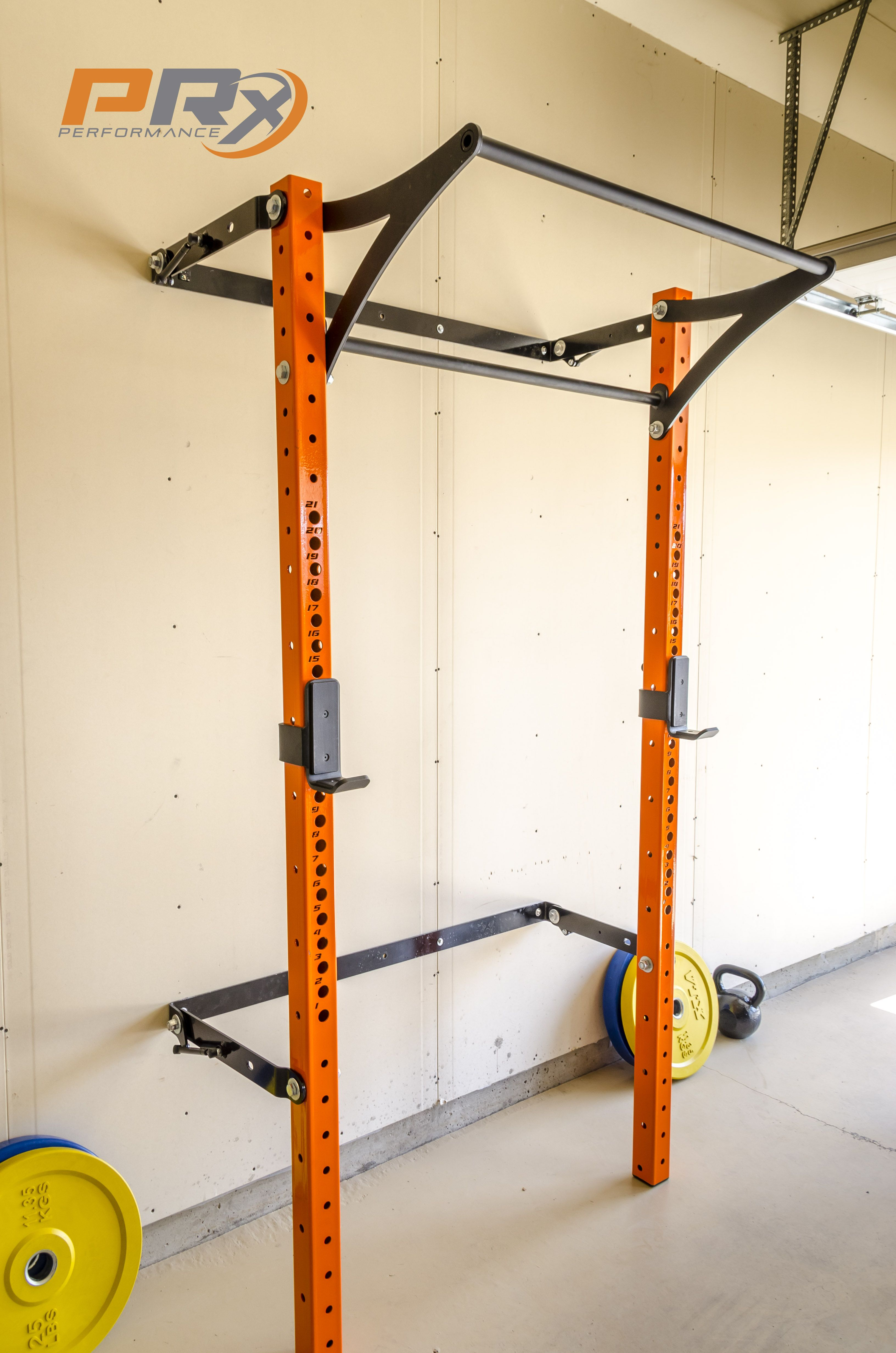 Diy Garage Gym Equipment The Space Saving Squat Rack Down And Ready To Do Some Work