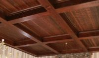 Wood Box Beam Ceiling | DIY | Pinterest | Wood boxes, Beam ...