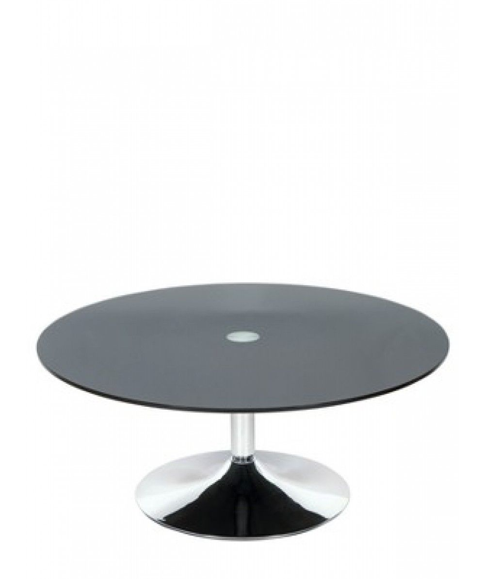Couchtisch Roma Roma Round Coffeetable In Chrome And Glass Will Certainly Add A