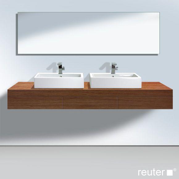 Duravit Fogo Konsole mit Schubkasten mit 2 Ausschnitten - badezimmer konsole