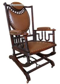 Good Antique Huntzinger Victorian Platform Rocker Chair ...