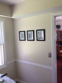 After! New bright white trim and Sherwin Williams Navajo ...